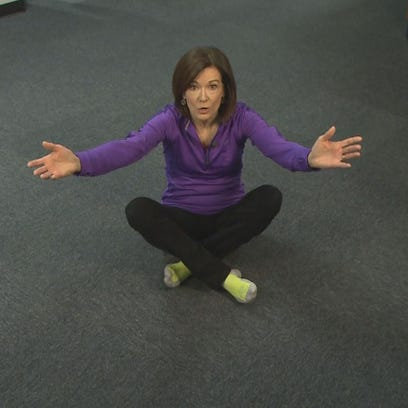 Kay Quinn demonstrates the Sitting Rising Test