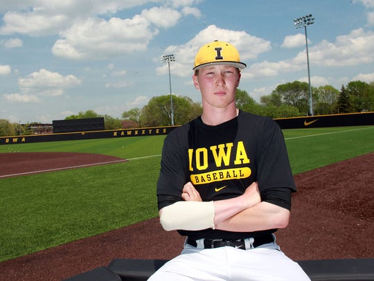 Iowa junior Tyler Peyton grew up in Grimes as a Hawkeye