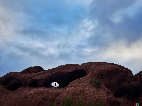 The Window in the Rock might be Papago Park's most well-known feature, and is home to one of the Valley's accessible hiking trails.