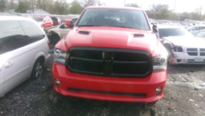 Early Friday, May 4, 2018, police found one of eight stolen 2018 Ram trucks on East Outer Drive in Detroit.