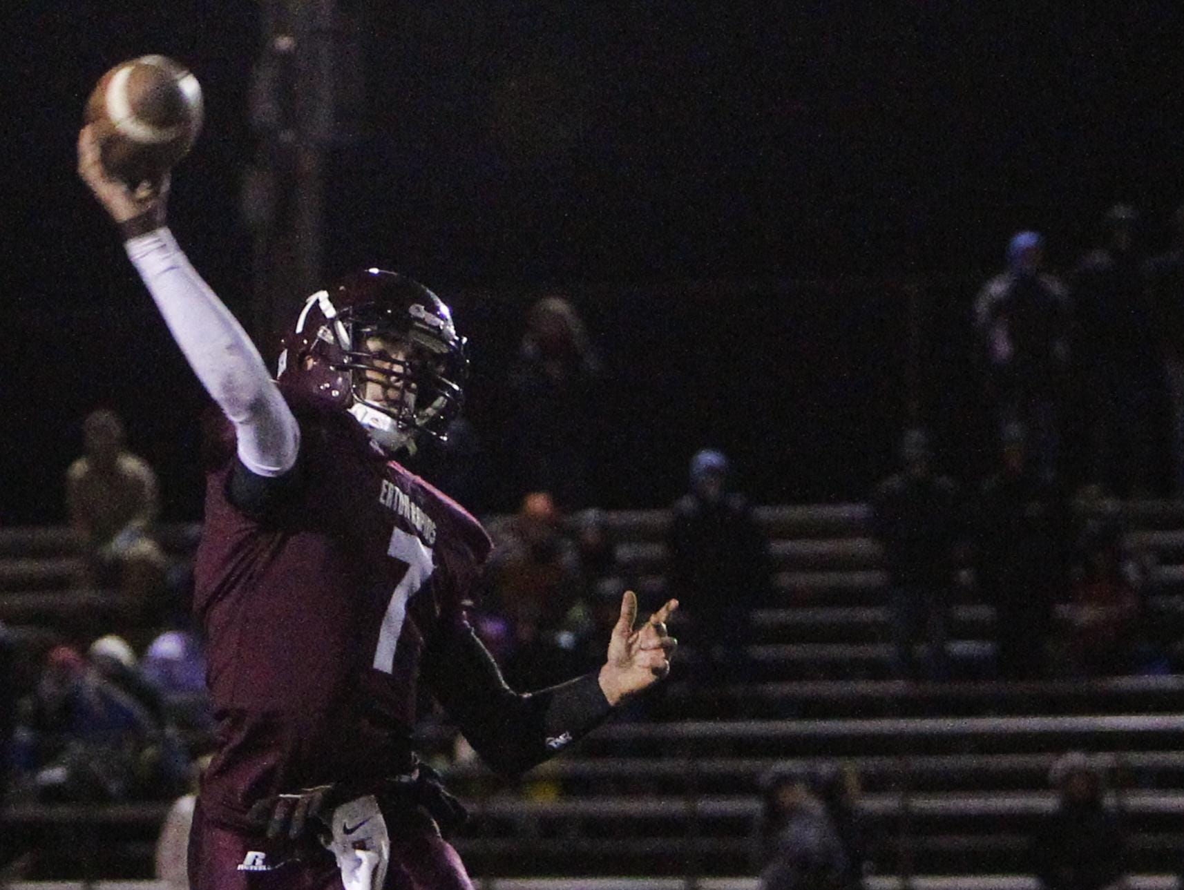 Jared McDaniel set career and single-season school records for passing yards while helping Eaton Rapids to a combined 15 wins and back-to-back playoff appearances as a junior and senior.