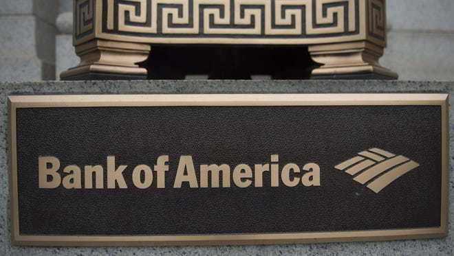 File photo taken in 2014 shows a Bank of America sign at a bank branch in Washington, DC.