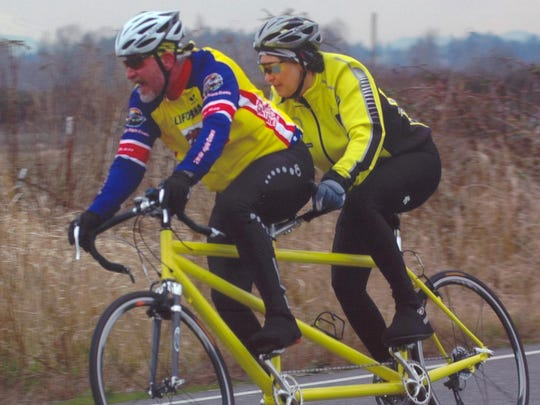 John Maurice and his wife, Joanne Heilinger, are among the organizers of the July 2-6 Northwest Tandem Rally in Bellingham, Wash. Because of injuries, Maurice will be in a vehicle during the event, while Joanne will be riding a single bike.