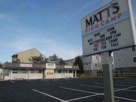 Matt' Fish Camp in Bethany Beach.