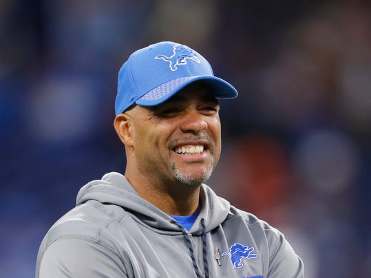 FILE - In this Nov. 12, 2017, file photo, Detroit Lions defensive coordinator Teryl Austin watches before an NFL football game against the Cleveland Browns in Detroit. The Cincinnati Bengals have hired Austin as defensive coordinator. (AP Photo/Paul Sancya, File)