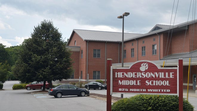 Law enforcement responds to a shooting at Hendersonville Middle School this morning.