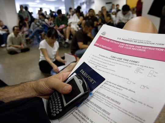 Solicitación de visas. Foto archivo