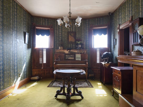 The bar area inside a 3,900 square-foot Victorian at