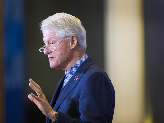 Bill Clinton Campaigns For Hillary Clinton In Early Presidential Battleground State Of Iowa
