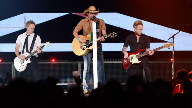 Jason Aldean performs to a sold out crowd Oct. 3 at the grand opening concert for the Denny Sanford Premier Center.