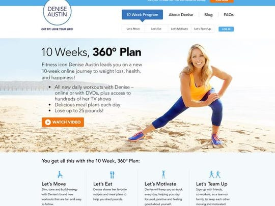 Denise Austin's website offers streaming workout programs.