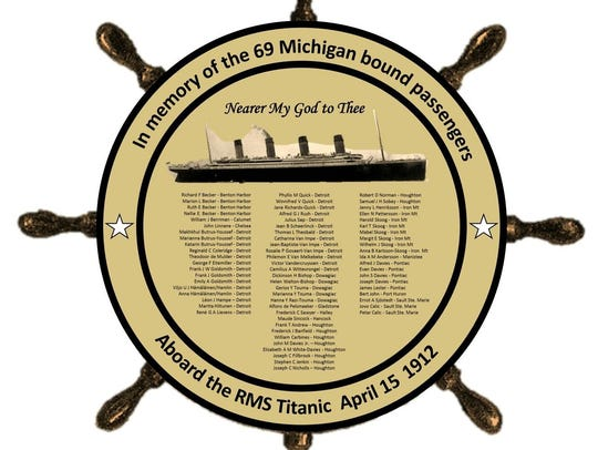 The Michigan Titanic Memorial to be unveiled in Marine