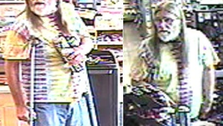 Police are seeking a man in connection with a recent theft at a local gas station.