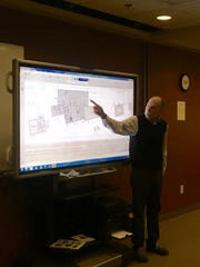 Jeff Oertel of Oertel Architects shows Waite Park City