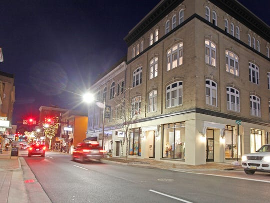 The Keezell Building on S. Main St., built in the early 1900s, has been renovated by Matchbox Realty and is home to a cat adoption center, a clothing boutique and a deli along with apartment units in the upper floors.