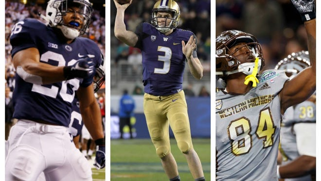 Penn State, Washington and Western Michigan were front and center in Sunday's story lines as the College Football Playoff selection committee announced the bowl and playoff pairings.