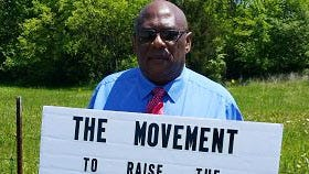 In a video posted online, Larry Russell Dawson of Nashville said he was traveling to the District of Columbia to lobby for a boost to the minimum wage.