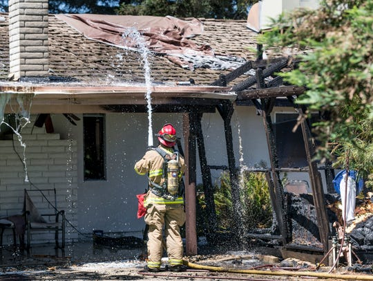 Visalia Fire department responded to a fire in the