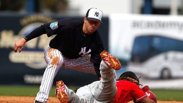 New York Yankees shortstop prospect Tyler Wade enters