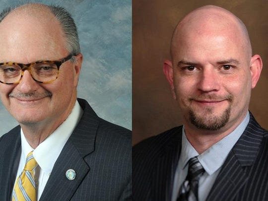 Incumbent John Schickel, left, and challenger Josh Turner, both Republicans, are running for the District 11 Senate seat in the May 17 Republican primary. District 11 is Boone County, Erlanger and Sparta.