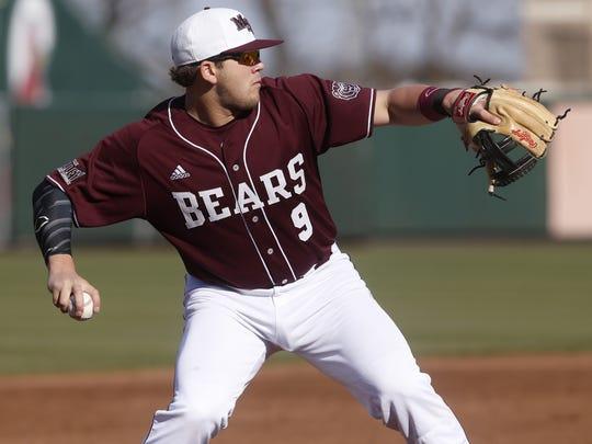 Missouri State baseball player Jake Burger