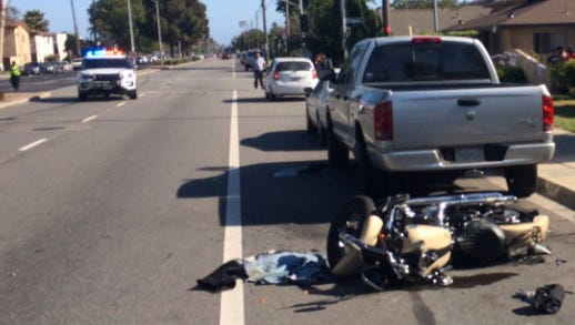 Oxnard police said they were investigating a serious crash involving a motorcyclist that an officer had been in pursuit of shortly before the crash occurred.