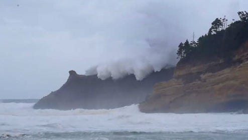 Wild weather is expected at the Oregon Coast this weekend, including at Cape Kiwanda, seen here.