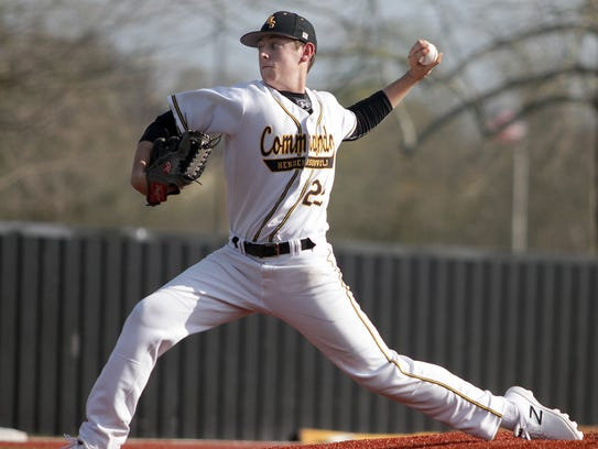 Hendersonville's Hayden Mullins works against Station