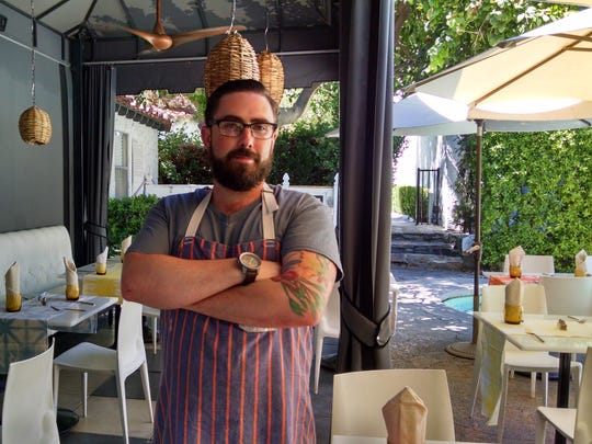 Chef Andrew Verrier of Chi Chi at The Avalon Hotel in Palm Springs.