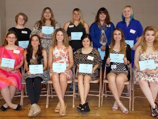 AAUW juniors, back row (l-r): Sarah Brown, Jillian