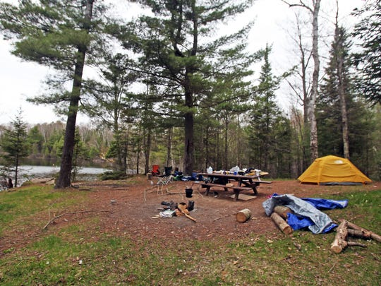 Remote campsites dot Fanny Lake in the Jones Spring Management Area in the Chequamegon-Nicolet National Forest.