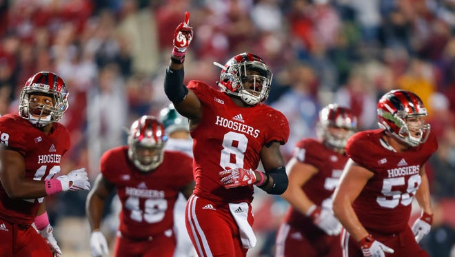 Tegray Scales (8) is IU's first All-American linebacker since 1987.