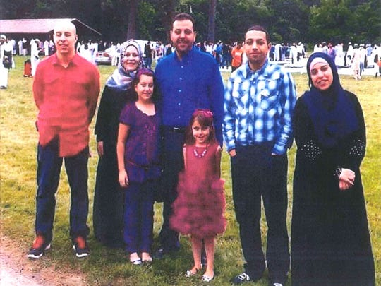 Family photo of the Abu Rayyan family, from left, Khalil,