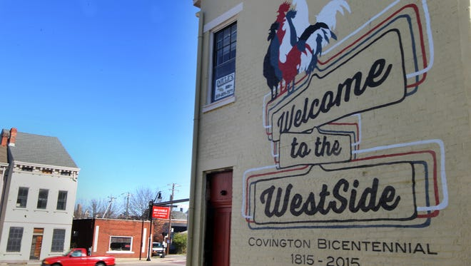 A welcome mural with an agrarian theme recalling WestSide Covington's roots will be dedicated Tuesday.