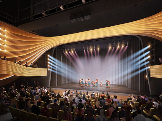 Rendering of new Gulfshore Playhouse theater in downtown