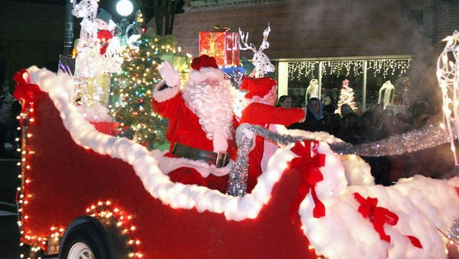 Santa Claus is pictured during the 2011 Tecumseh Christmas parade. The 2020 parade has been canceled due to the pandemic.