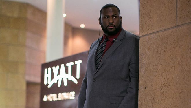 Marcus Dunn is a security guard at the Hyatt Regency in downtown Rochester.