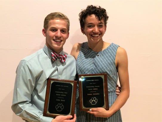 John Koch and Emma Dhimitri earned Lansing High School's