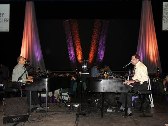 Chuck Hudson and Doug Saleeby provided dual piano entertainment