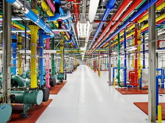 This photo provided by Google shows a company data
