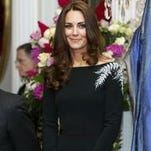 Duchess Kate dazzled in a Jenny Packham dress embroidered with New Zealand's fern symbol.