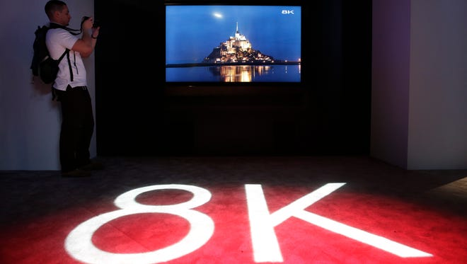 Sharp's 85-inch 8K LED TV at the International Consumer Electronics Show on Jan. 6, 2015, in Las Vegas.
