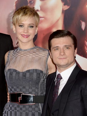 Jennifer Lawrence and Josh Hutcherson at the premiere of 'The Hunger Games: Catching Fire' at Nokia Theatre L.A. Live on Nov. 18 in Los Angeles.