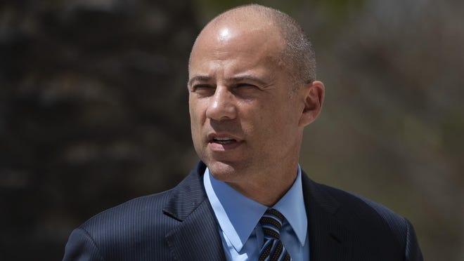 In this April 1, 2019 file photo, attorney Michael Avenatti arrives at federal court in Santa Ana, Calif. Avenatti is expected to be arraigned Monday, April 29, 2019, on charges that he stole millions of dollars from clients, cheated on his taxes and lied to investigators.