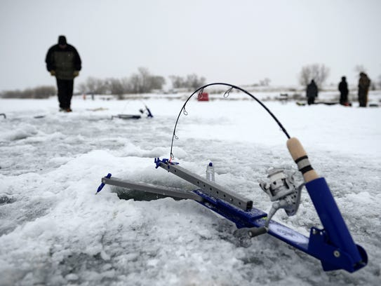 The Valier Lake Frances Ice Fishing Derby breaks the ice at 8 a.m. Saturday.