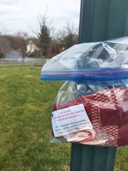 Scarves Around Town: Local women put bags of warm weather