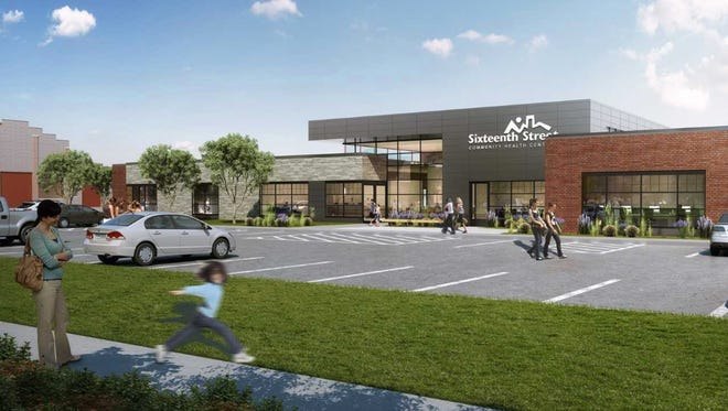 Rendering of a planned clinic for Sixteenth Street Community Health Centers at 4603 W. Mitchell Blvd. in West Milwaukee.