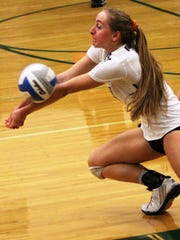 Novi senior Ally Cummings makes the dig in Saturday's