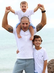 Tony Kanaan has two sons, Leo, who is 9, and Deco,