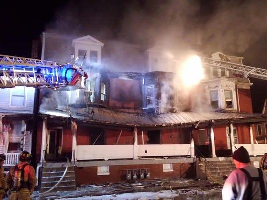 E. Walnut St. fire in Hanover